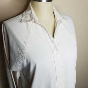 Wrangler | VTG Cream Western Embroidered Top